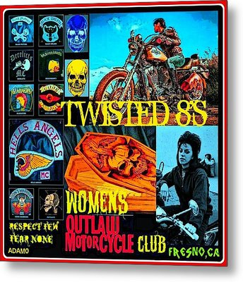 Twisted 8's Metal Print by Tony Adamo