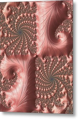 Twisted Coral Metal Print by Elaine Teague