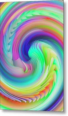 Twisted Rainbow Pastel Metal Print