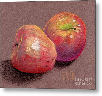 Two Apples Metal Print