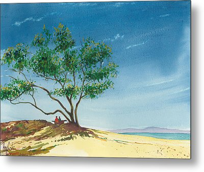 Two At The Beach Metal Print by Ray Cole