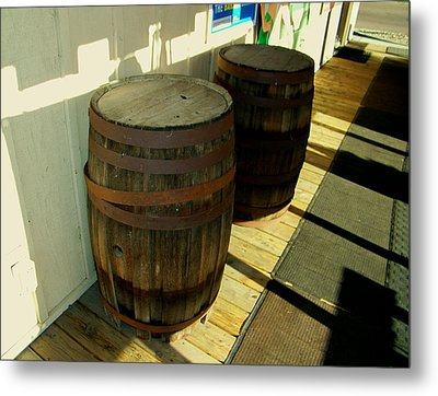 Metal Print featuring the photograph Two Barrels by Lenore Senior