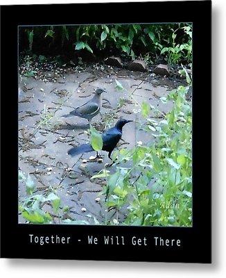 Metal Print featuring the photograph Two Birds Blue by Felipe Adan Lerma