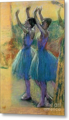 Two Blue Dancers Metal Print by Edgar Degas
