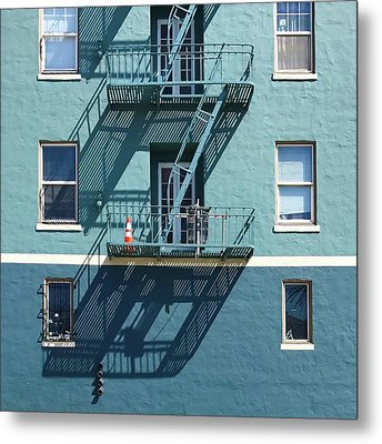 Two Blues Metal Print