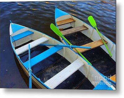 Two Boats Metal Print by Carlos Caetano