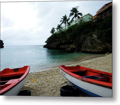 Metal Print featuring the photograph Two Boats, Island Of Curacao by Kurt Van Wagner