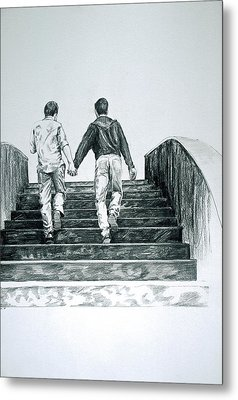 Two Boys Metal Print