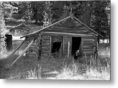Two Cabins One Outhouse Metal Print by Richard Rizzo