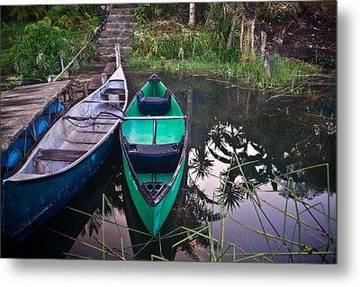 Two Canoes Metal Print by Douglas Barnett