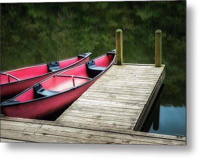 Two Canoes Metal Print by James Barber