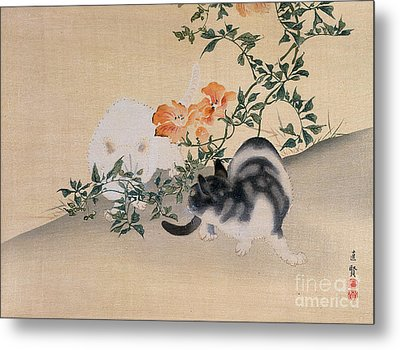 Two Cats Metal Print by Japanese School