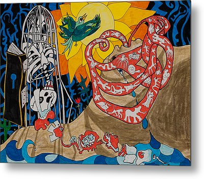 Two Creation Stories Metal Print by Eliza Furmansky