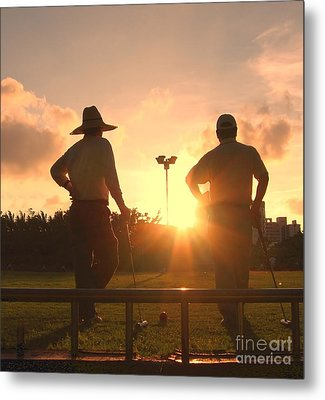 Two Croquet Players Metal Print by Yali Shi