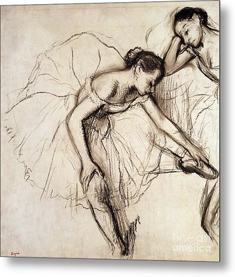 Two Dancers Resting Metal Print