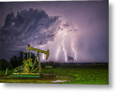 Metal Print featuring the photograph Two Ellements  by James Menzies