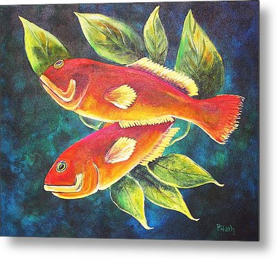 Two Fish Metal Print
