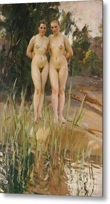 Two Friends  Metal Print by Anders Leonard Zorn