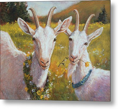 Two Goats Of Summer Metal Print by Tracie Thompson