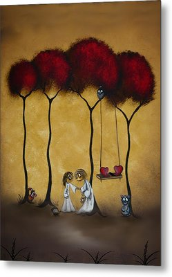 Two Hearts Metal Print by Charlene Zatloukal
