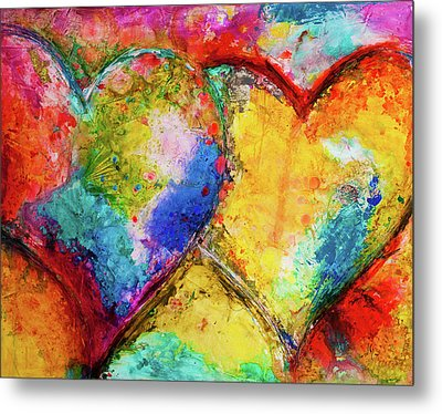 Two Hearts Metal Print by Ivan Guaderrama