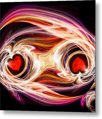 Two Hearts-one Soul Metal Print by Michael Durst