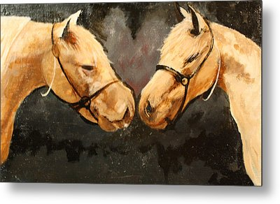 Two Horse Metal Print by Shannon Rains