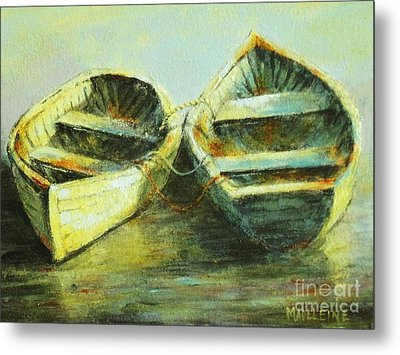 Two In A Row Metal Print by Madeleine Holzberg