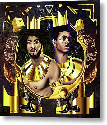 Two Kings Ian And Trevor Jackson Metal Print by Kenal Louis
