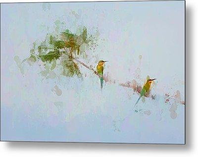 Two Little Birds Metal Print by Kamarulzaman Russali