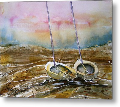 Two Little Sail Boats  Metal Print by Shirley Sykes Bracken