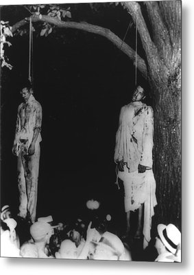 Two Lynched African American Men Metal Print by Everett