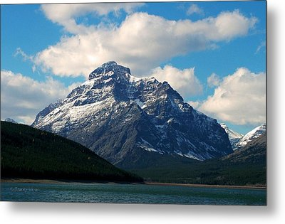 Two Medicine Lake And Rising Wolf Mountain Metal Print