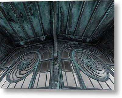 Two Medusa Windows Carousel House Asbury Park New Jersey Metal Print