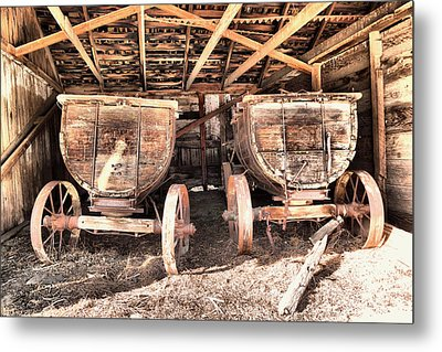 Metal Print featuring the photograph Two Old Wagons by Jeff Swan