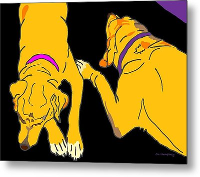 Two On The Floor Metal Print by Su Humphrey