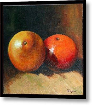 Two Oranges Metal Print by Pepe Romero