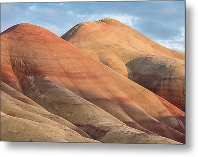 Metal Print featuring the photograph Two Painted Hills by Greg Nyquist