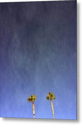 Two Palm Trees- Art By Linda Woods Metal Print