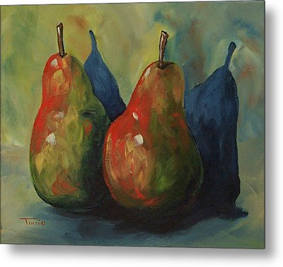 Two Pears  Metal Print by Torrie Smiley