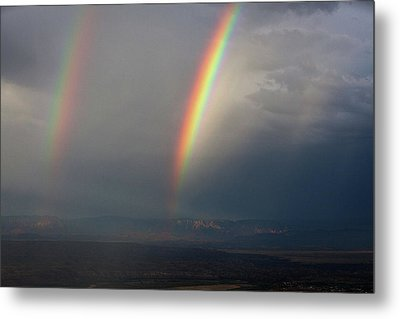 Metal Print featuring the photograph Two Rainbows by Ron Chilston