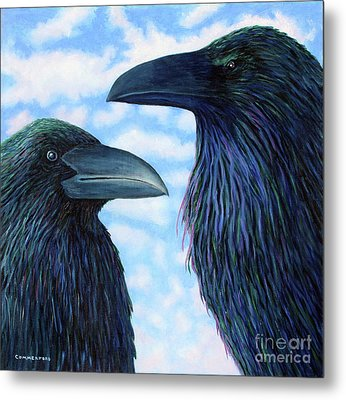 Two Ravens Metal Print by Brian  Commerford