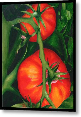 Two Red Tomatoes Metal Print by Pepe Romero