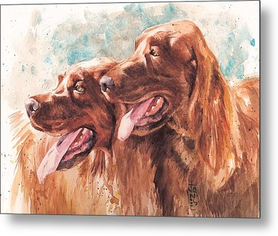 Two Redheads Metal Print