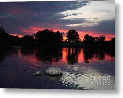 Two Rocks Sunset In Prosser Metal Print