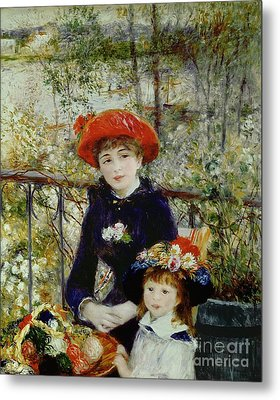Two Sisters Metal Print by Pierre Auguste Renoir