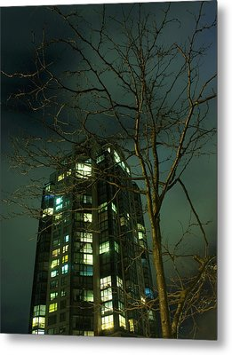 Two Skyscrapers Metal Print by Barbara  White