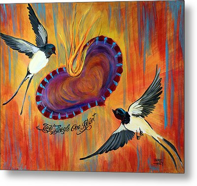 Two Souls One Heart Metal Print by Jaime Haney