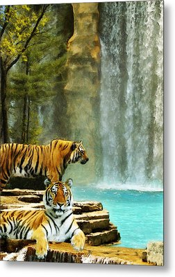 Two Tigers Metal Print