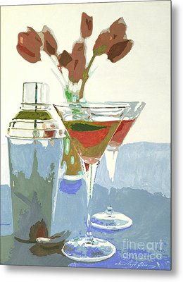 Two Tulip Martinis Metal Print by David Lloyd Glover